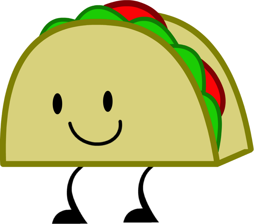 Image - Taco (II) Pose.png | Object Shows Community | FANDOM powered ... clip art transparent library