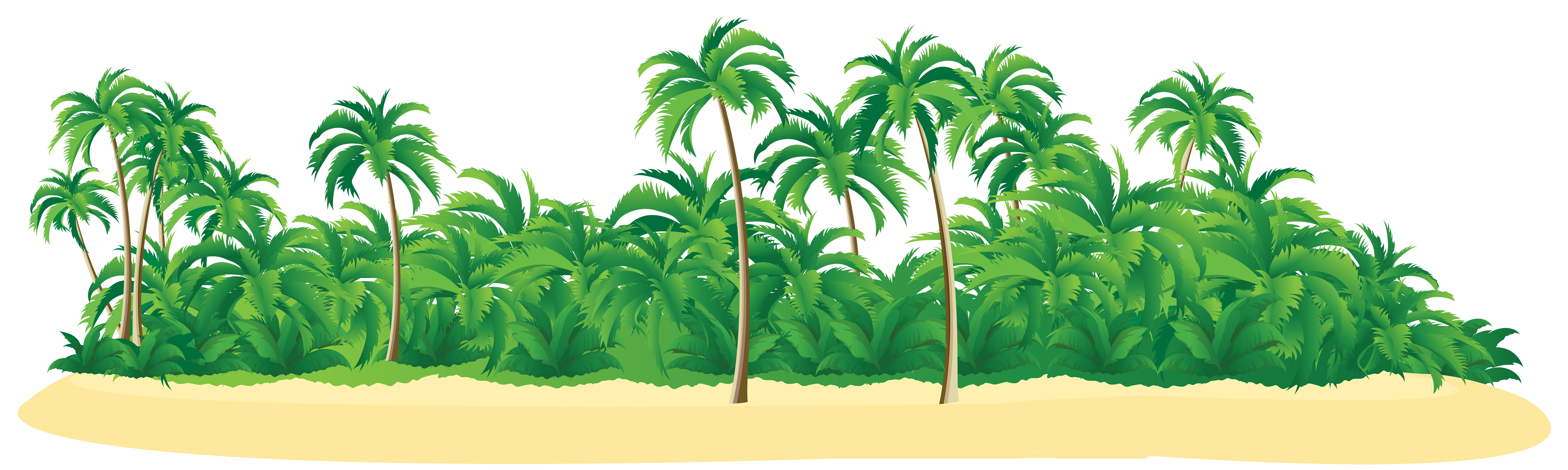 Island palm tree clipart graphic library download Summer Tropical Island with Palm Trees PNG Clip Art Image | Clip Art ... graphic library download