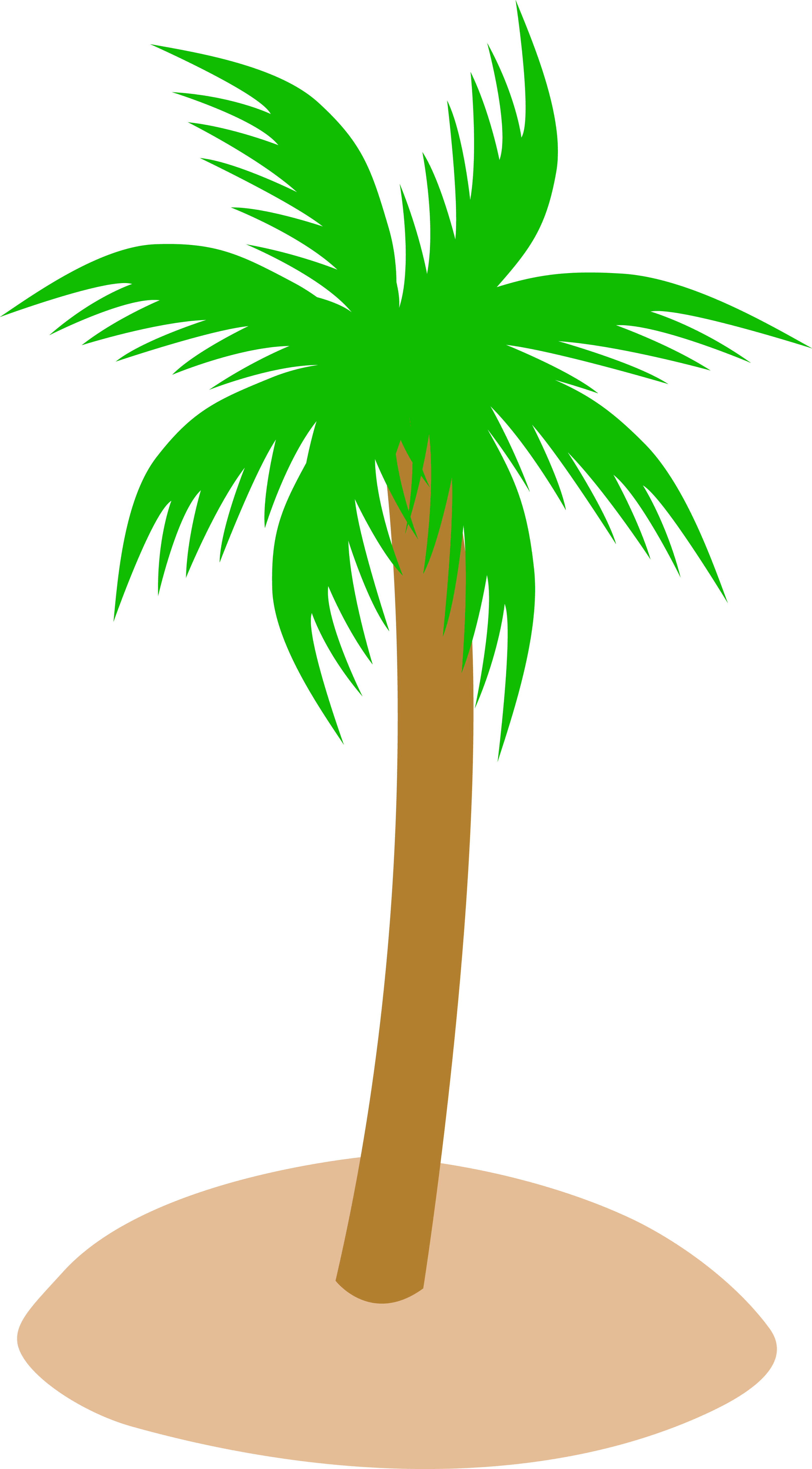 Island palm tree clipart png black and white Tropical Palm Tree in Sand - Free Clip Art png black and white