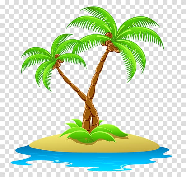 Islands clipart clip art royalty free stock Coconut trees on island illustratiobn, Island Free content , islands ... clip art royalty free stock