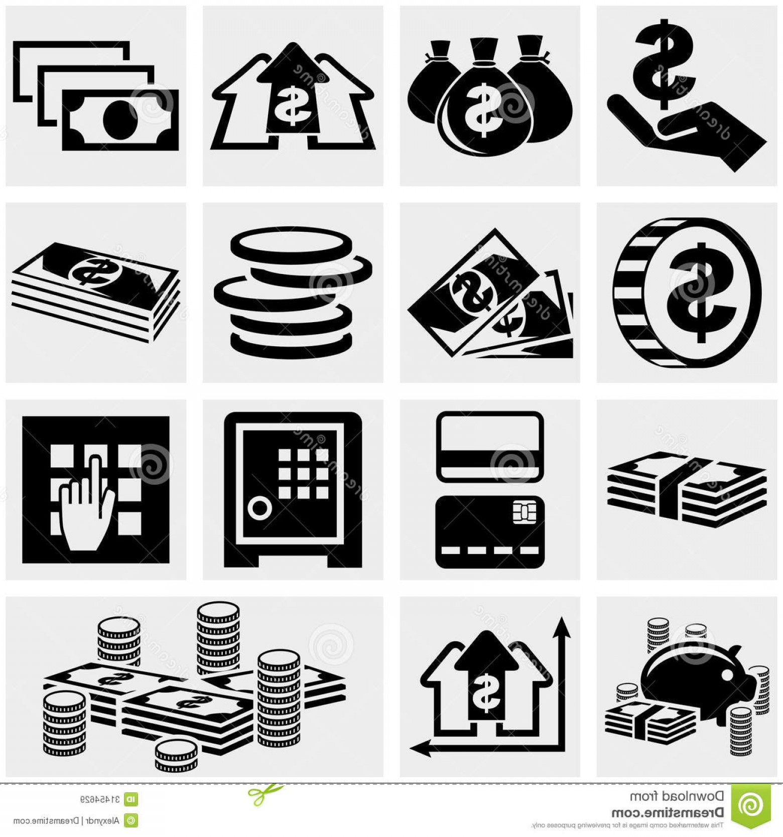 Isolated free stock clipart photos graphic transparent stock Royalty Free Stock Images Banking Money Coin Vector Icons Set ... graphic transparent stock