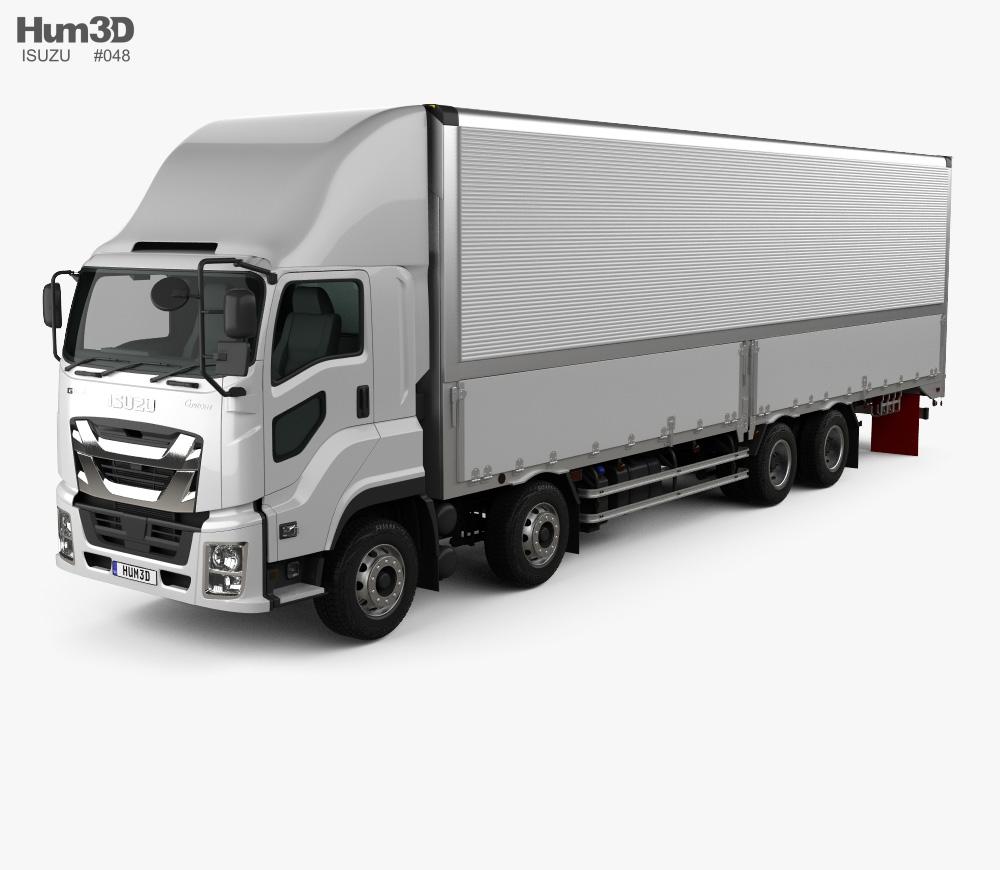 Isuzu truck clipart svg royalty free download Isuzu Giga Box Truck 4-axle 2017 3D model svg royalty free download
