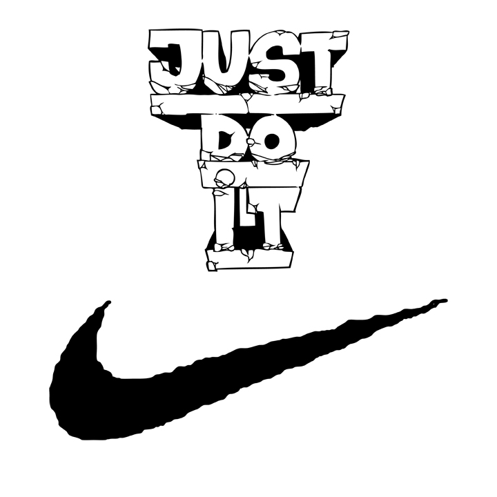 It logo clipart png black and white library Free Nike Cliparts, Download Free Clip Art, Free Clip Art on Clipart ... png black and white library