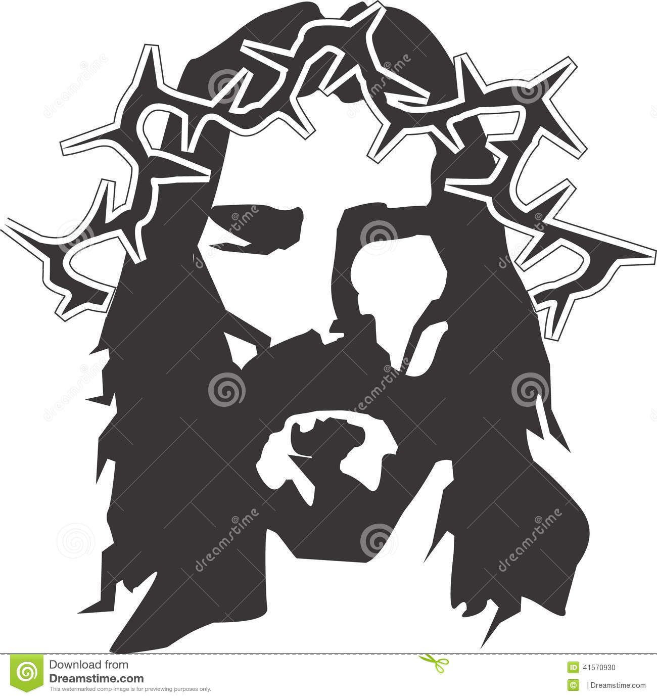 It s all about jesus black and white clipart vector transparent Images For > Jesus Face Clipart Black And White | John 3:16 | Jesus ... vector transparent