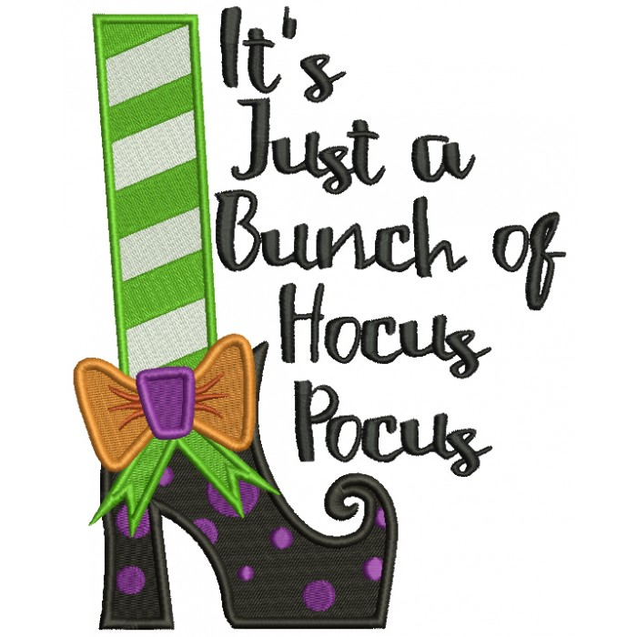 It s just a bunch of hocus pocus clipart banner free stock It\'s Just a Bunch Of Hocus Pocus Halloween Filled Machine Embroidery Design  Digitized Pattern banner free stock