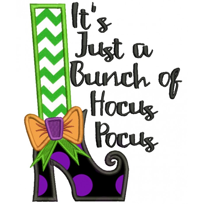 It s just a bunch of hocus pocus clipart banner stock It\'s Just a Bunch Of Hocus Pocus Halloween Applique Machine Embroidery  Design Digitized Pattern banner stock