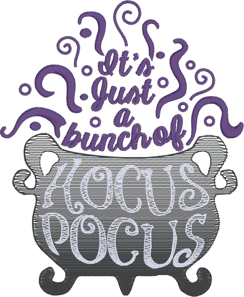 It s just a bunch of hocus pocus clipart jpg royalty free stock It\'s just a bunch of hocus pocus 5x7 machine embroidery design jpg royalty free stock