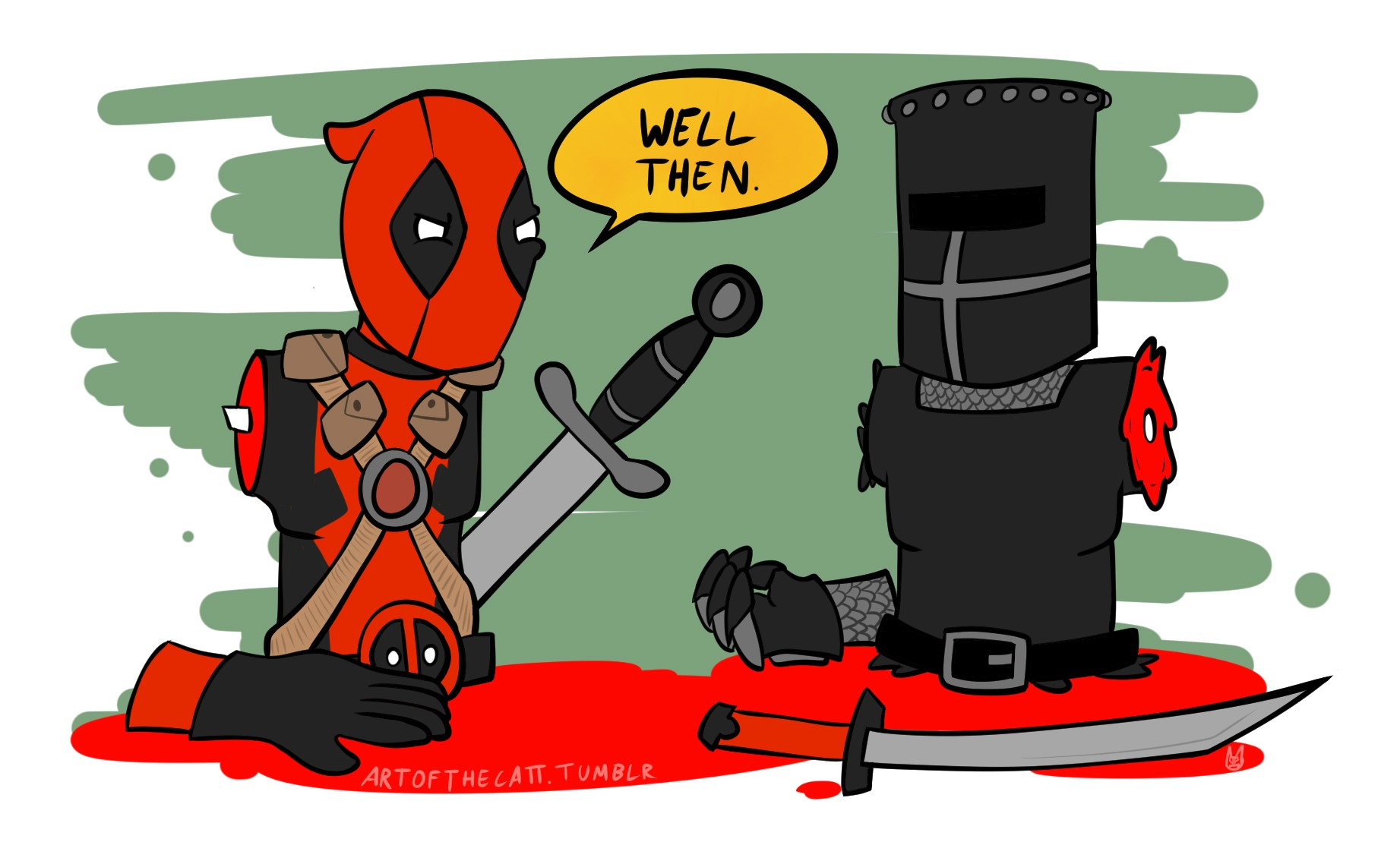 It s just a flesh wound clipart svg royalty free library Deadpool vs The Black Knight - Imgur svg royalty free library