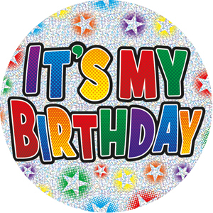 It s my birthday clipart svg black and white stock Expression Factory - It\'s My Birthday Badge (Giant) svg black and white stock