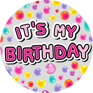 It s my birthday clipart clip art transparent stock Expression Factory - It\'s My Birthday - Female - Badge (Giant) clip art transparent stock
