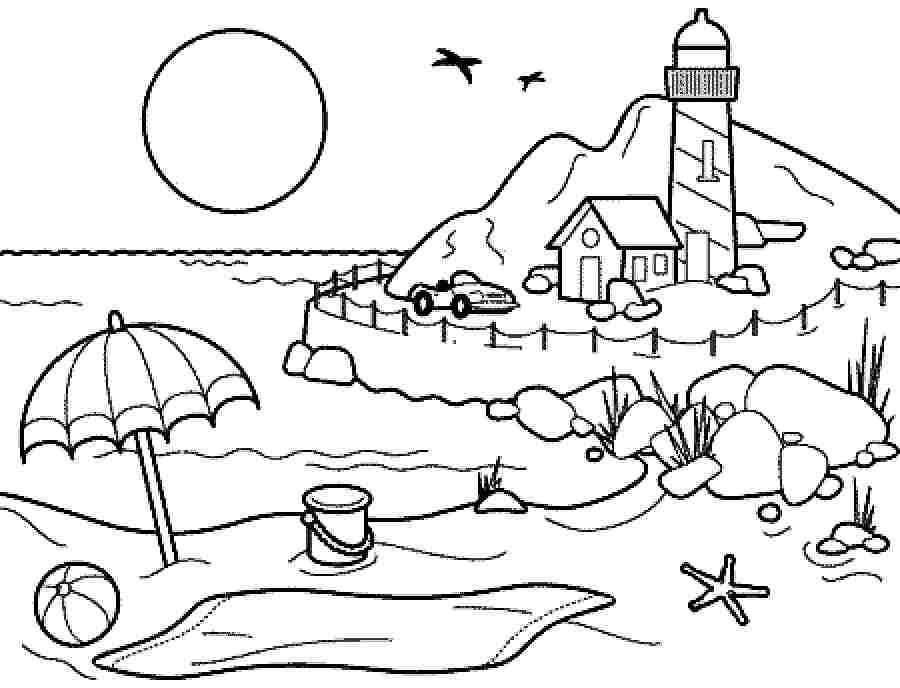 It s summer time clipart black and white clipart library Coloring Pages summer season pictures for kids drawing: Free ... clipart library