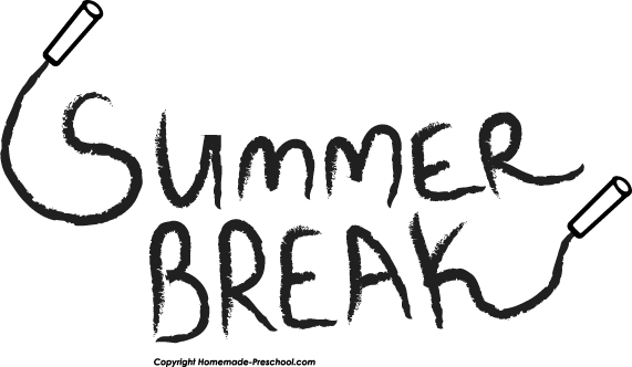 It s summer time clipart black and white vector transparent download Free School Related Clipart vector transparent download
