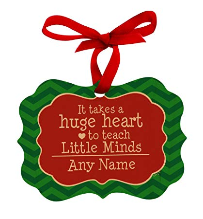 It takes a big heart to teach little minds clipart graphic free library Personalized Christmas Ornaments Teachers Customized Teacher Name Takes  Huge Heart to Teach Little Minds Maple Wood Personalized Christmas Ornament  ... graphic free library