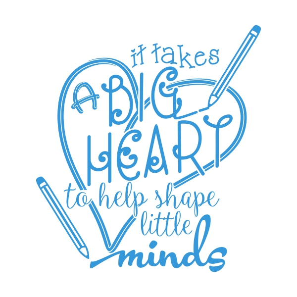 It takes a big heart to teach little minds clipart clip art library download It Takes a Lot of Sparkle to Teach Little Minds Cuttable Design clip art library download