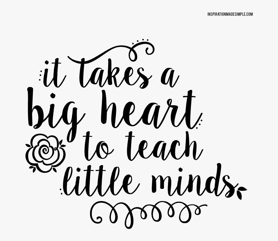 It takes a big heart to teach little minds clipart clip transparent stock Clipart Thank You Teacher With Apple - Takes A Big Heart To Teach ... clip transparent stock