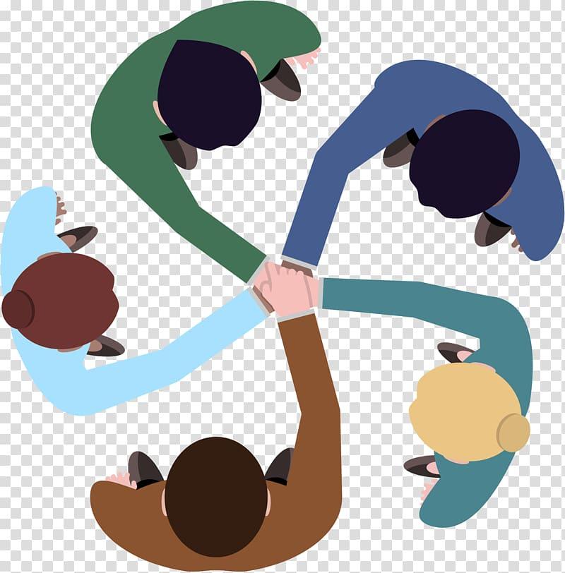 It works logo clipart image free Teamwork Logo , team work, group of five people illustration ... image free