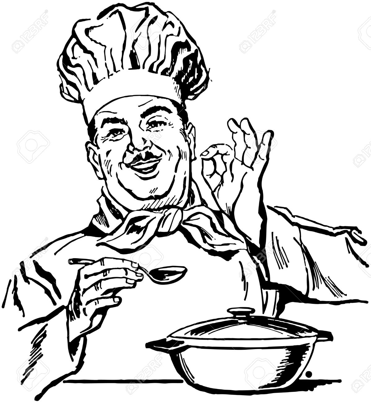 Italian chef clipart free image black and white download Clipart italian chef - ClipartFest image black and white download