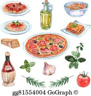 Italian food free clipart clip freeuse library Italian Food Clip Art - Royalty Free - GoGraph clip freeuse library