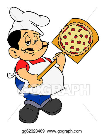 Italian guy clipart svg black and white library Drawing - Italian pizza chef. Clipart Drawing gg62323469 - GoGraph svg black and white library