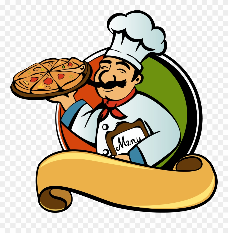 Italian restaurant clipart graphic freeuse Pizza Italian Cuisine Chef Clip Art Pan - Png Download (#256584 ... graphic freeuse