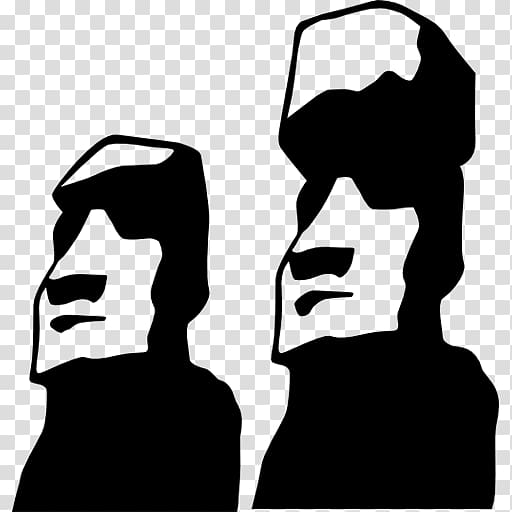 Iti clipart vector black and white Moai Rano Raraku Rapa Iti Monument Rapa Nui people, Moai transparent ... vector black and white