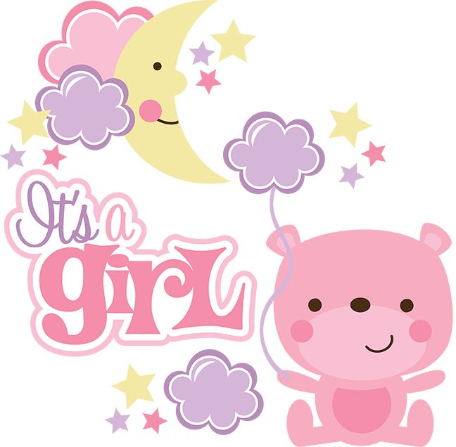 Its a girl baby shower clipart transparent clip black and white Baby Shower Its A Girl PNG Transparent Baby Shower Its A Girl.PNG ... clip black and white