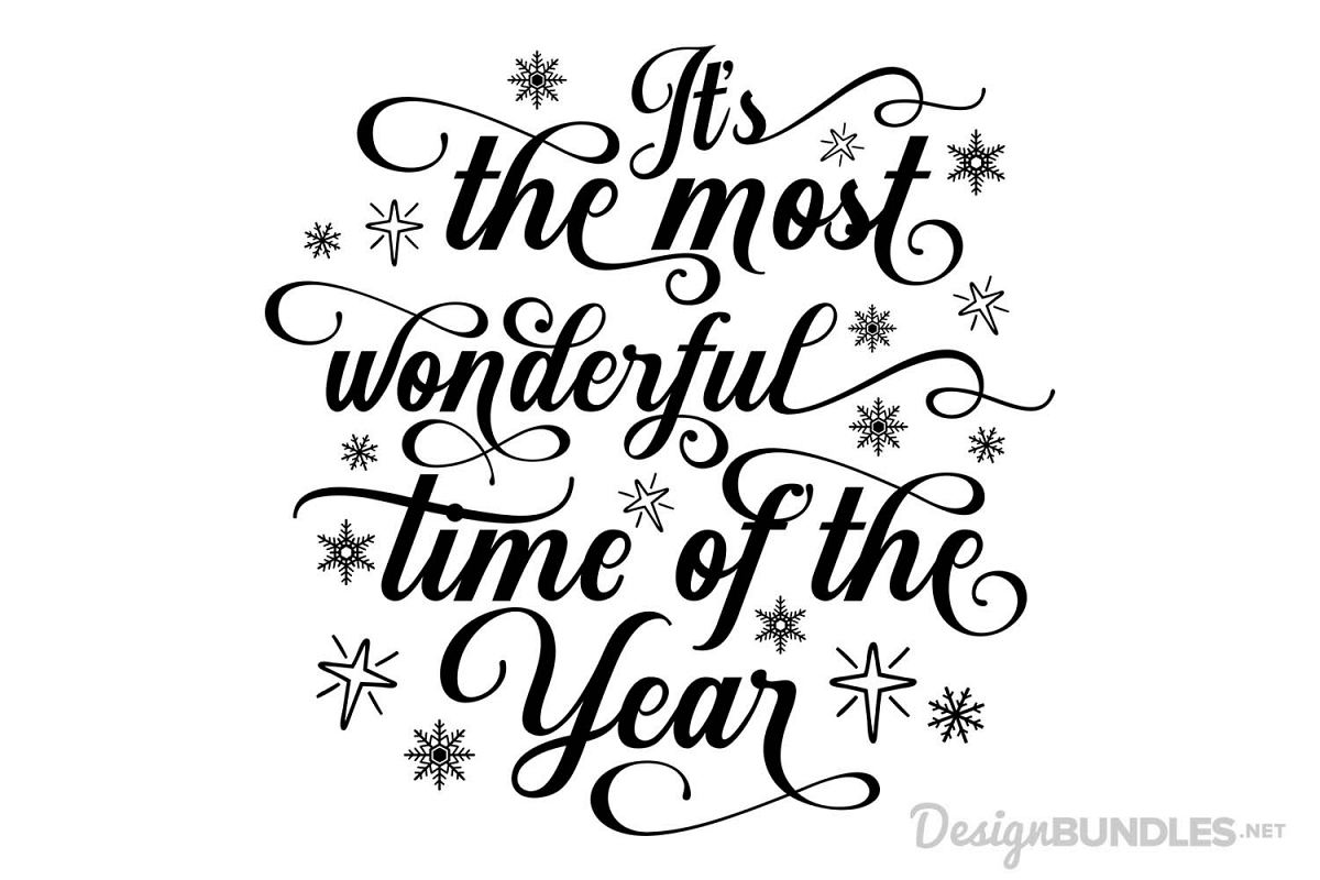 Its the most wonderful time of the year clipart graphic freeuse download Its the Most Wonderful Time of the Year - SVG graphic freeuse download