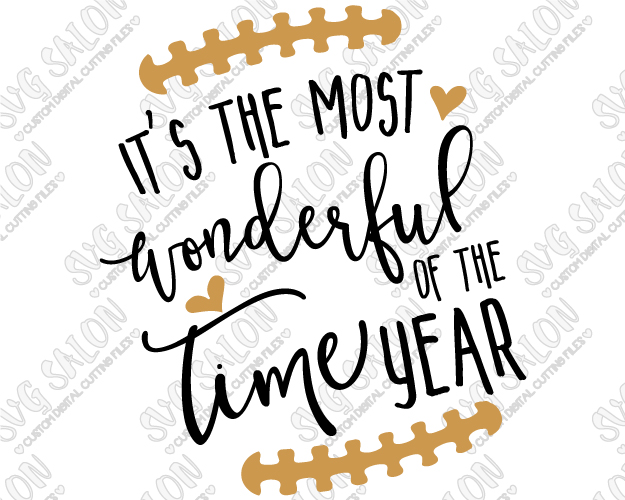 Its the most wonderful time of the year clipart clip art stock It\'s The Most Wonderful Time Of The Year Football Cut File in SVG, EPS,  DXF, JPEG, and PNG clip art stock