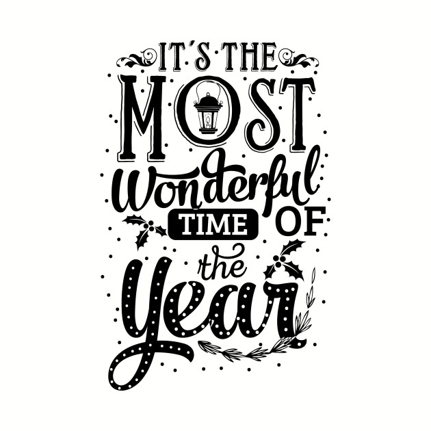 Its the most wonderful time of the year clipart image free stock It\'s The Most Wonderful Time Of The Year Holiday image free stock
