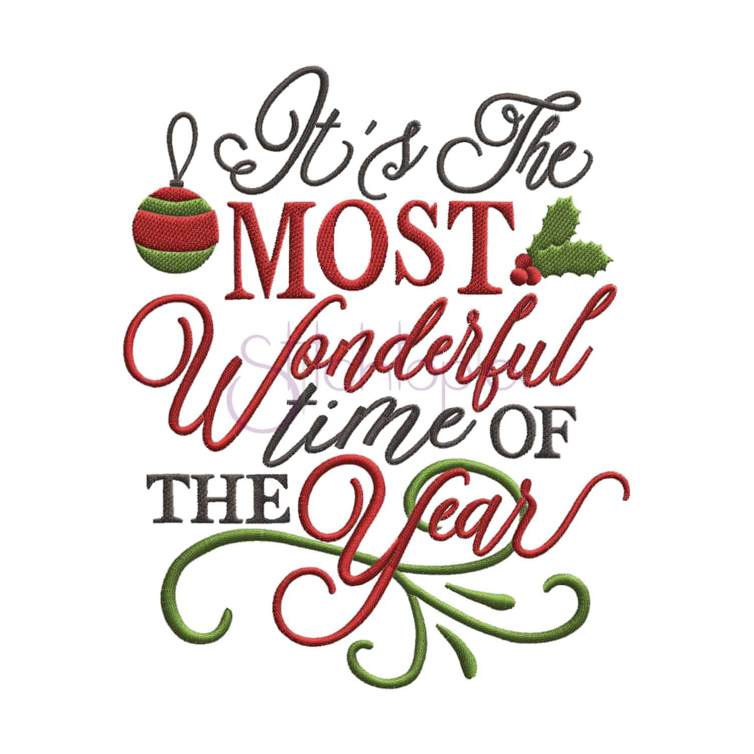 Its the most wonderful time of the year clipart png library It\'s the Most Wonderful Time of the Year Embroidery Design png library