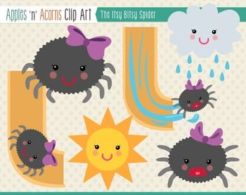 Itsy bitsy clipart image transparent download Itsy Bitsy Spider Clip Art - color and outlines   หน้าปก ... image transparent download
