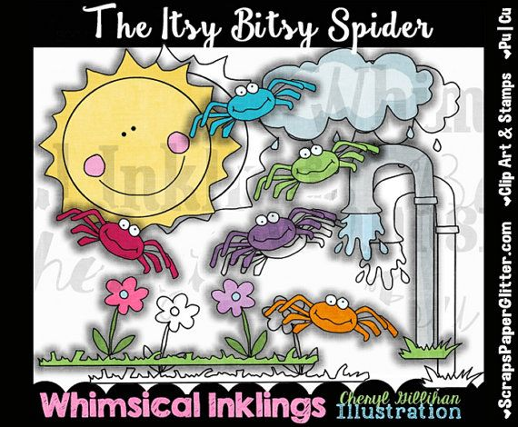 Itsy bitsy clipart jpg royalty free Its Bitsy Spider Clip Art Black & White Images by ... jpg royalty free