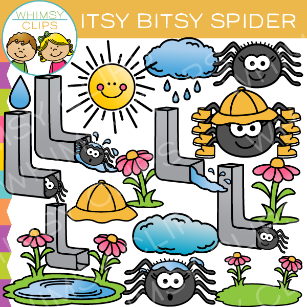 Itsy bitsy clipart picture transparent download Itsy Bitsy Spider Nursery Rhyme Clip Art picture transparent download