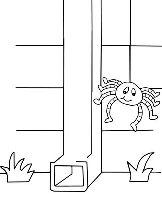 Itsy bitsy spider clipart black and white svg freeuse library Itsy Bitsy Spider coloring page | Coloring Pages | Spider ... svg freeuse library