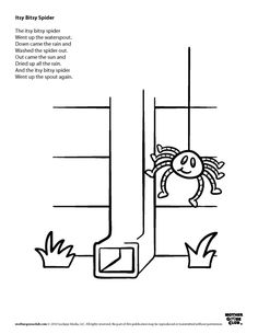 Itsy bitsy spider clipart black and white clip freeuse stock 27 Best The Itsy Bitsy Spider images in 2014 | Nursery ... clip freeuse stock