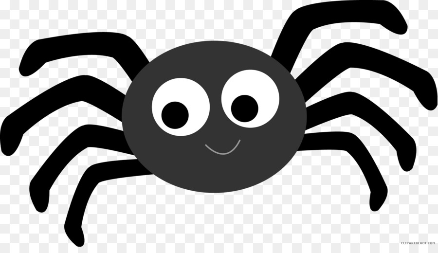 Itsy bitsy spider clipart black and white png download Cartoon Spider clipart - Cartoon, Font, Design, transparent ... png download