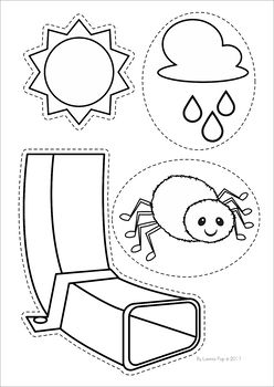 Itsy bitsy spider clipart black and white freeuse download The Itsy Bitsy Spider / The Incy Wincy Spider Worksheets and ... freeuse download