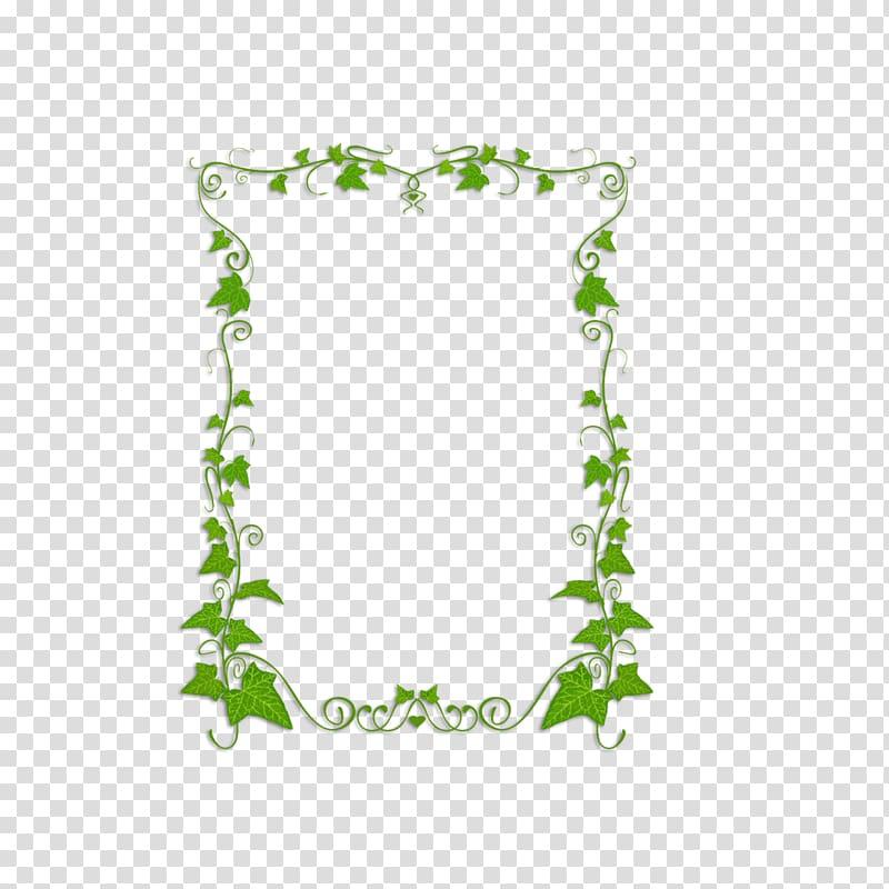 Ivy frame clipart image transparent download Green leaves illustration, Common ivy Plant Vine , green ... image transparent download