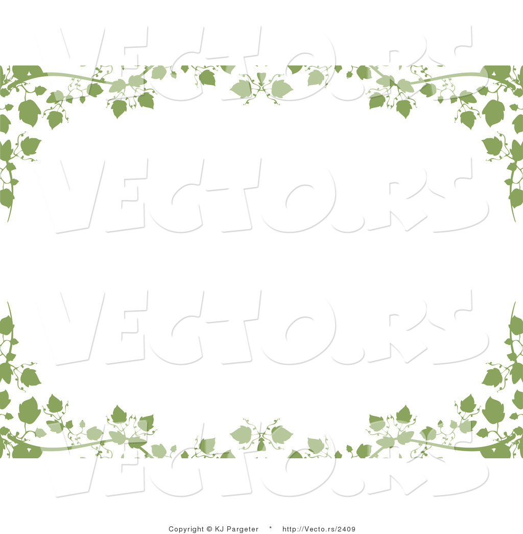 Ivy vine curved frame clipart vector black and white download Vector of Green Ivy Vines and Leaves - Background Border ... vector black and white download