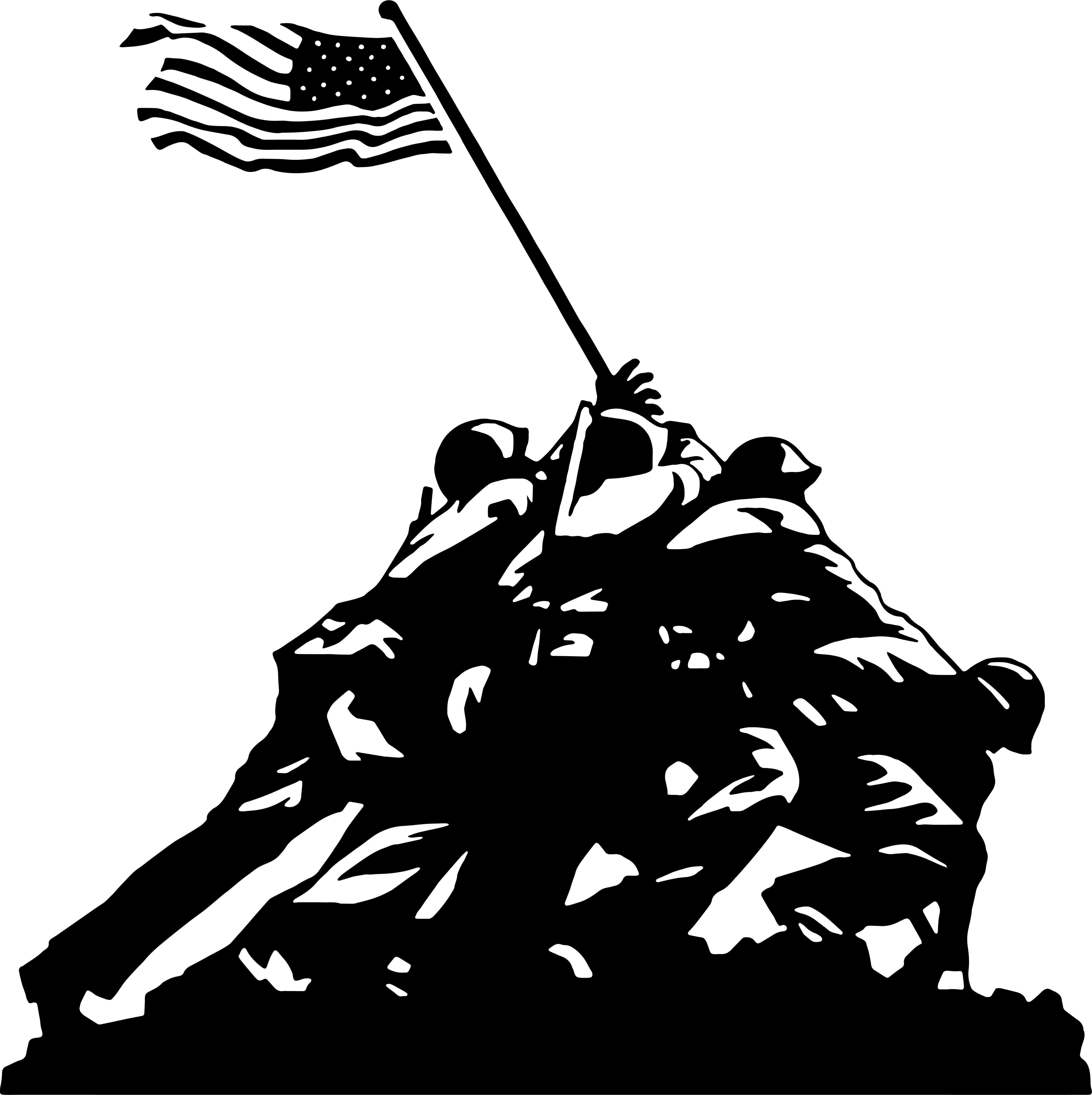 Iwo jima flag raising clipart image free library Iwo Jima Flag Raising – Decal image free library