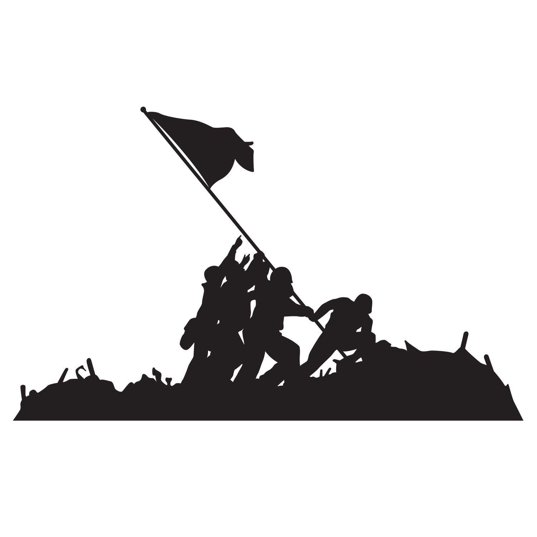 Iwo jima flag raising clipart graphic freeuse stock Raising the Flag on Iwo Jima | U.S. Marine Corps | Iwo jima ... graphic freeuse stock
