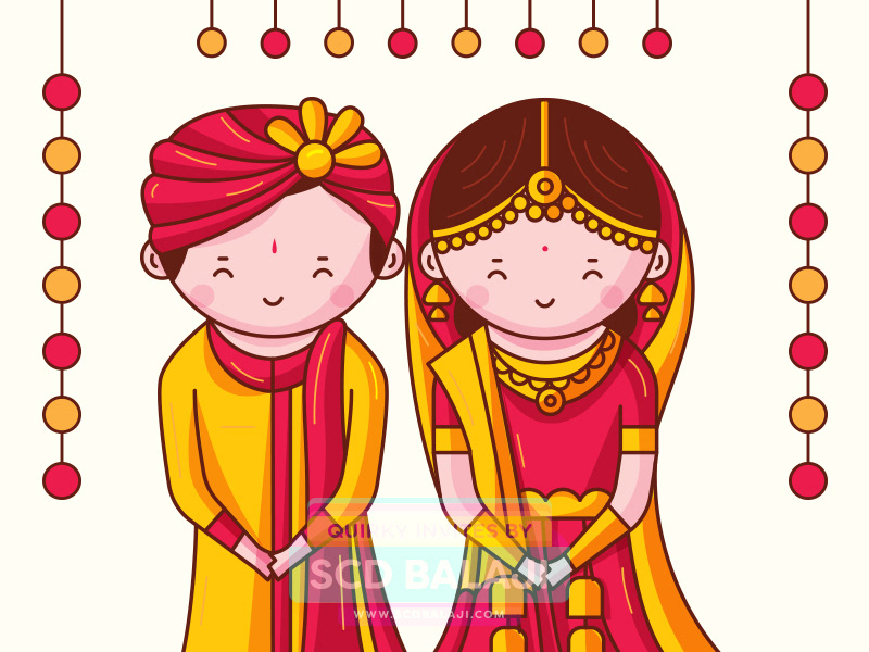 Iyengar traditional costume of tamil nadu clipart clip art transparent download Quirky Indian Wedding Invitations - Cute Indian Brides and ... clip art transparent download