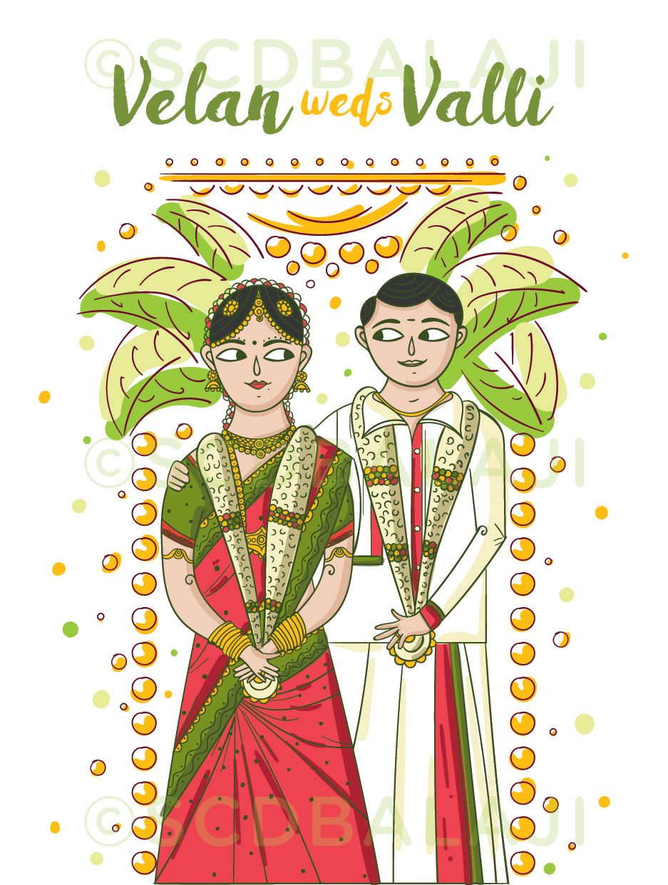Iyengar traditional costume of tamil nadu clipart clip free download South Indian Tamil Wedding Invitation Design and ... clip free download