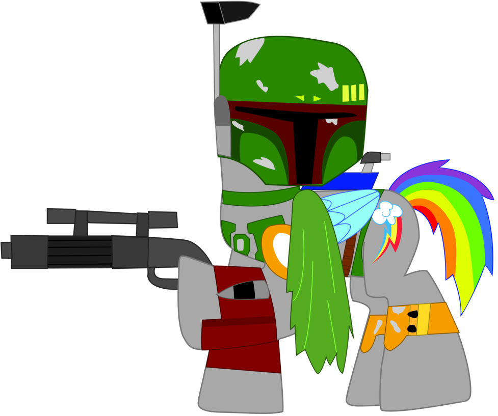Star wars clipart boba fett svg library library Rainbow Dash as Boba Fett in Star wars by EJLightning007arts on ... svg library library