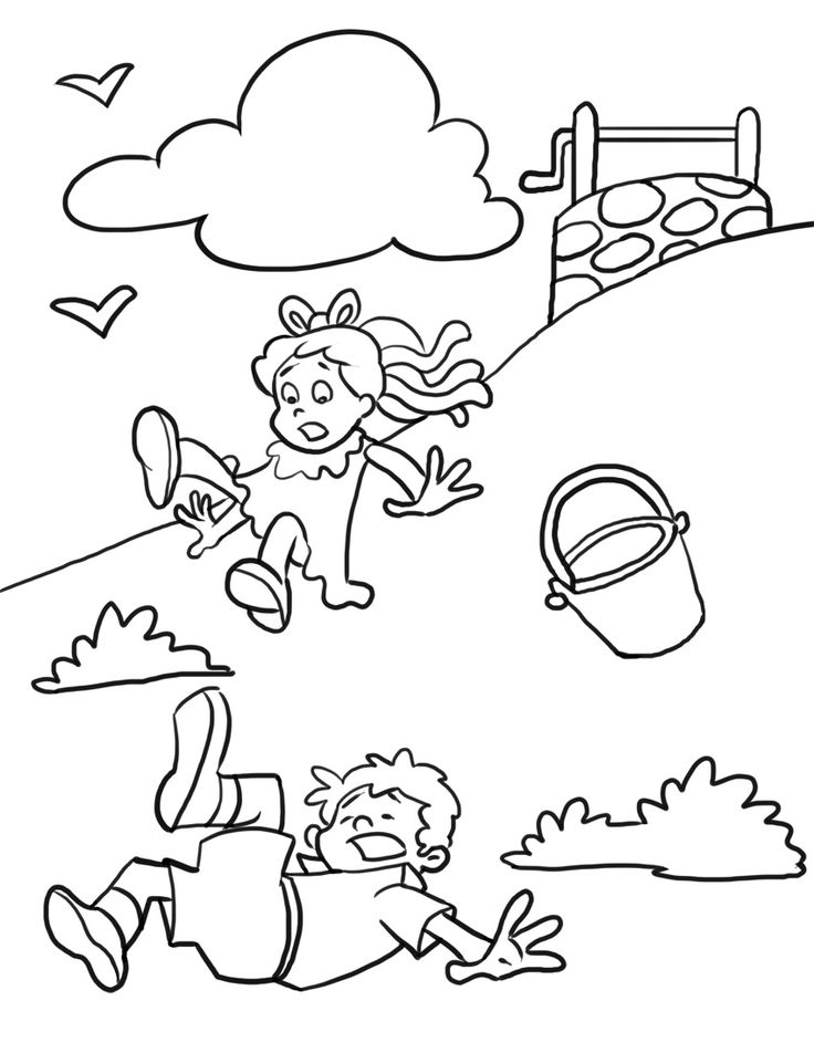 Jack and jill clipart black and white jpg black and white download Jack And Jill Clipart Black And White jpg black and white download