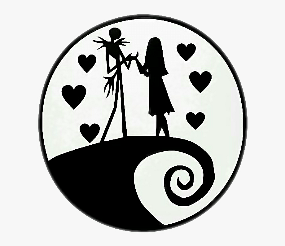 Jack and sally clipart clipart transparent stock Jack And Sally Clipart - Nightmare Before Christmas Symbol ... clipart transparent stock