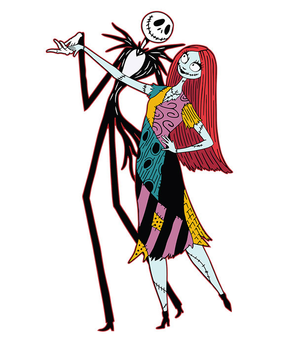 Jack and sally clipart clip freeuse Jack And Sally Clipart (91+ images in Collection) Page 2 clip freeuse