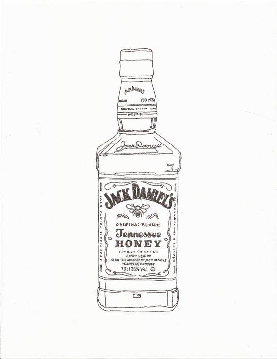 Jack daniels bottle clipart clipart transparent library Jack Daniels Sketch at PaintingValley.com | Explore ... clipart transparent library