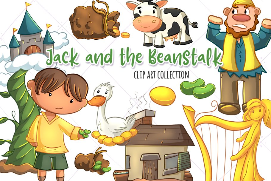 Jack from jack and the beanstalk clipart clipart free stock Jack and the Beanstalk Clip Art ~ Illustrations ~ Creative ... clipart free stock