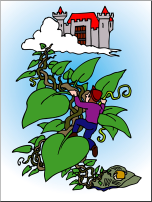 Jack in the beanstalk clipart svg free download Clip Art: Jack and the Beanstalk 2 Color I abcteach.com ... svg free download